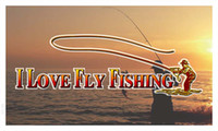 Wholesale bb729 I Love Fly Fishing Banner Shop Sign