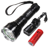Wholesale Powerful W Lumens CREE XM L T6 LED AAA Flashlight Torch Charger