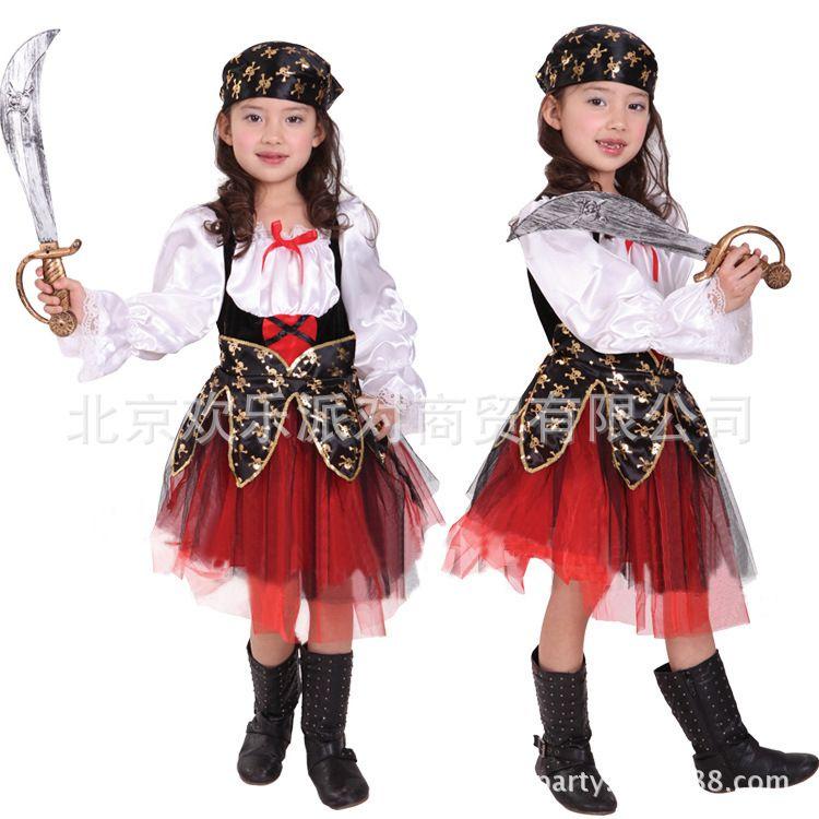 Halloween Masquerade Party Kids Childrenu0026#39;s Clothing Female Pirate Costume Cute Dress Female ...