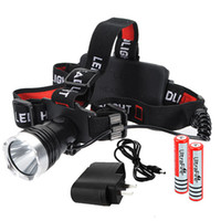 Wholesale 1600LM CREE XM L T6 LED Rechargeable Headlamp Headlight Torch x Charger
