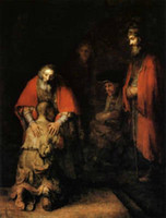 art rembrandt - Free delivery Rembrandt Prodigal Son Repro Oil Painting Custom Made Religious Christian Art