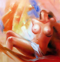 Cheap Handmade Women Oil Painting On Canvas - The Nude Girl