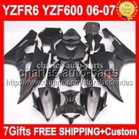 7gifts 100%NEW HOT ALL black For YAMAHA YZF- R6 YZF R6 Flat M...