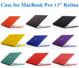 Wholesale 9 Colors Rubberized Matte Frosted Surface Good felling Hard Shell Case Cover for MacBook Pro quot Retina Absolutely necessary