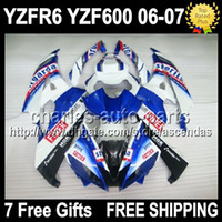7gifts+ Seat cowl Full Fairing FIMER Blue For YAMAHA YZFR6 06...