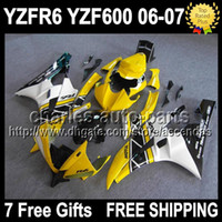 7gifts For YAMAHA YZFR6 06- 07 Yellow white YZF600 YZF R6 06 ...