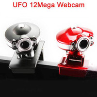 Wholesale UFO USB LED mega Web Cam PC Camera Webcam HD With Microphone For Computer PC Laptop Without Retail Package