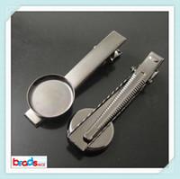 Beadsnice cheveux clip cheveux en laiton accessoires avec 18mm ronde cabochon mise à la main des pinces à cheveux en métal gros ID 22812