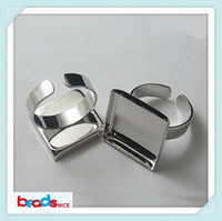 Yes Metal Ring Settings Beadsnice ID8660 wholesale inside diamere 25mm square adjustable ring bases blanks brass ring settings nickel free lead free