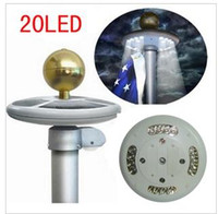 Wholesale 20 led solar pole lamp solar umbrella dome light solar lamp flag lights