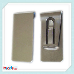 Beadsnice ID26421 stainless steel money clip top quality wallet card holder wholesale blank money clips free shipping