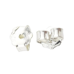Wholesale Beadsnice ID earring nuts sterling silver earring findings earing making accessories earring back stopper