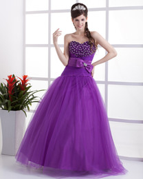 Wholesale Elegant sweetheart beaded sequin lace up evning prom Graduation Quinceanera dresses ball gowns