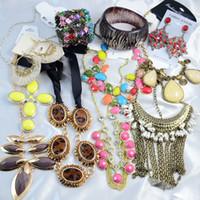 Wholesale Jewelry Sets Cheap Price Foreign Trade Statement Bib Necklace Hot Sale Set Of Jewelry Wedding Jewelry Gram AJ001