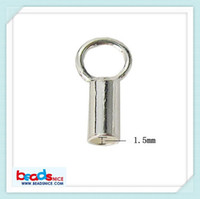 Yes 1.5 inch 925 sterling silver Min order is $10 mix order free shipping Beadsnice ID 25286 wholesale jewelry clasp mini leather cord end caps