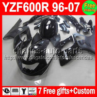 For YAMAHA YZF600R 1996 1997 1998 1999 2005 Flat Gloss black...