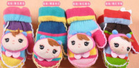 Wholesale Fashion Angel Gloves Winter Warm Creative Cute Gloves Valentine Day Gifts