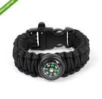 Wholesale Brand New Paracord survival Bracelets Fashion Parachute Compass Bracelet Handcraft Friendship Link Bracelet