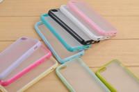 al por mayor nuevo caso de la llegada iphone5c-NUEVA Llegada de colores CASO de Iphone5C 5C TPU+PC Dual Marco Colorido Marco agradable caso 3pcs/lote China Post de Envío Gratis
