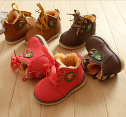 Wholesale 30 off FREE SHOPPING yards Thick wool high top boots Slip snow boots straps baby wear china cheap shoes sale pairs ZL