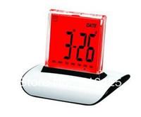 Wholesale free fedex LED Colour Digital ALARM CLOCK amp THERMOMETER