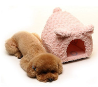 cashmere cat litter - Japan Doug Pig type pet nest Fashion mini cat litter kennel Small type dog house Pink brown