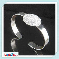 Wholesale Beadsnice jewelry bracelet brass cuff bangle with mm flat pad nice for cabochon or cameo diy jewelry ID
