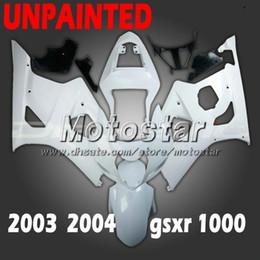 Unpainted motorcycle fairings for SUZUKI GSX-R1000 K3 2003 2004 GSXR1000 03 04 GSX R1000 DIY fairing kit cc31