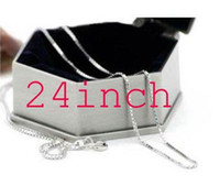 Wholesale inch long mm sterling silver box chain c2