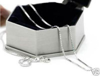 Promotions!Free shipping 925 sterling silver 1mm box chain ....