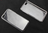 Wholesale 2013 New Crystal Hard Plastic Clear Transparent Black White Back cover case for iphone S C