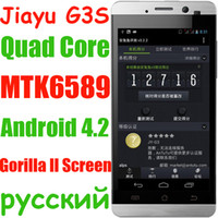 Commercio all'ingrosso - G3 jiayu g3 MTK6589 quad core 1G di RAM 8MP Android 4.2 con 4,5 pollici schermo del telefono cellulare 3G HD IPS