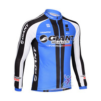 Wholesale GIANT Team New arrival Long Sleeve Cycling Jersey Top Only Outdoor Cycling Clothing Bicycle tight Clothing Cycling Wear Drop Shipping