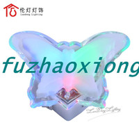 Wholesale Lamps small night light cat crystal butterfly led night light none radiation lamps fuzhaoxiong