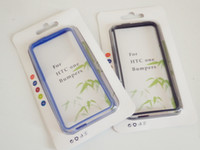Wholesale For HTC ONE M7 Colorful amp Clear TPU Bumper Frame Case