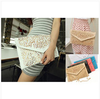 Wholesale 2013 vintage national women s trend handbag cutout envelope bag day clutch bag shoulder bag cross body bag