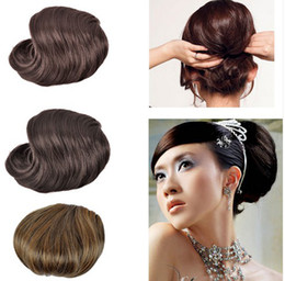 Wholesale New Charm Women s Clip Big Hair Bun Hairpiece Hair Extensions For Bride Headwear