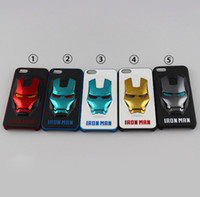 Wholesale 50 High quality electroplating PC D Iron man Case For iPhone4 S iphone S