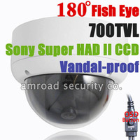 Wholesale 1pc Fisheye Degree TVL quot Sony HAD II CCD Enhanced Effio Vandal proof Lux Surveillance CCTV Dome Camera AT FE180LDV