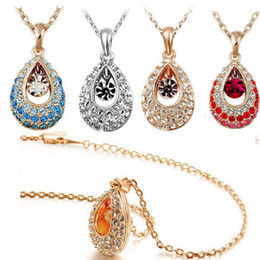Charm Necklaces Austria Swarovski Crystal Elements of Crystal Angel Tear Drops Necklace Alloy Panel Hot New Arrival Best Gifts&Promotion