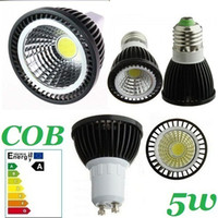 Wholesale High Power COB W Led Bulbs Lamp Angle GU10 E27 E14 MR16 Warm Cool White Led Spot Downlights V V CE ROHS