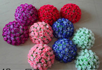 Wholesale LLFA2329 CM inch Artificial Kissing Pomander Rose Flowers Ball Wedding Favors Bouquet Party Home Decoration