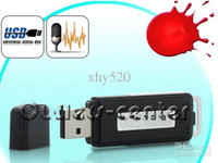 Wholesale mini GB USB Flash Memory Professional Spy Digital Voice Sound Recorder Recording Pen with Telephone Recording