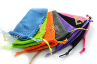 battery cable size - Colorful size cm cm Soft Mesh Pouch Case Bag for Electronic Cigarette can hold Tank Atomizer Colorful EGO T Battery USB Adapter Cable