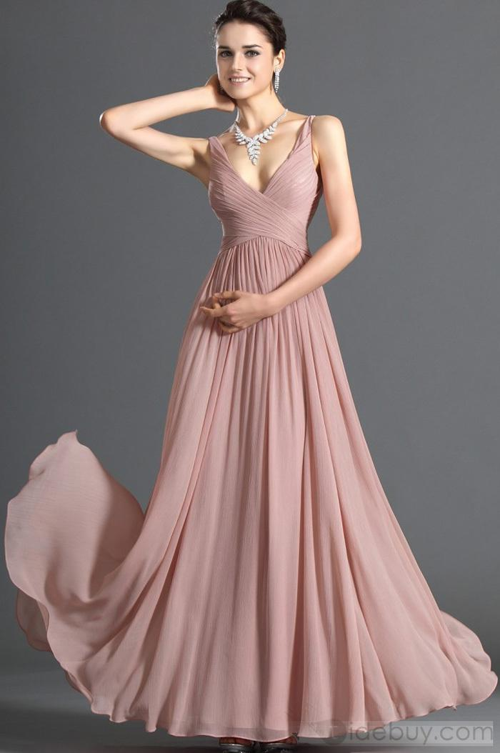Discount Dusty Pink Evening Dress Chiffon - 2017 Dusty Pink ...