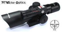Wholesale TAC Vector Optics Sidewipe x40 E Compact Green Laser Hunting Rifle Scope with mm Quick Release Mount Base