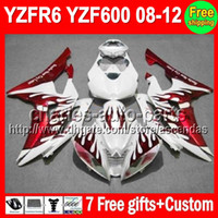 7gifts Fairing For YAMAHA YZFR6 08- 12 YZF R6 Red flames YZF-...