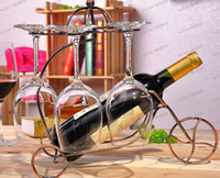 Wholesale LLFA2332 Metal Iron Wine rack Creative wine rack Bike hanging glass shelves Fashion Giant