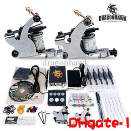 Wholesale DHGATE Beginner cheap tattoo starter gun kits machines ink sets needles grips tubes power arrive within days