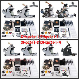 Wholesale DHGATE Series Beginner cheap tattoo starter gun kits machines ink sets needles grips tubes power arrive within days